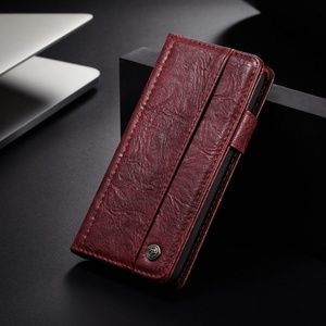 Leather Wallet Card Holder for iPhone